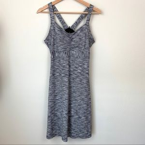 PrAna Gray Heathered Stretch Active Dress